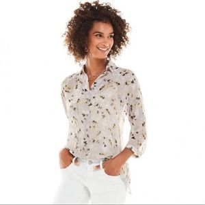 CAbi 5204 Matinee Floral Long Sleeve Blouse